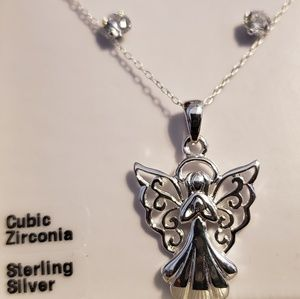 Angel necklace (sterling silver)